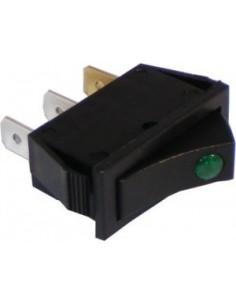 Green Neon Rocker Switch - SW53 Used on : EB3 EB4 EB6(Post 1996-2000)