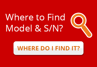 Where to find Model & Serial Number